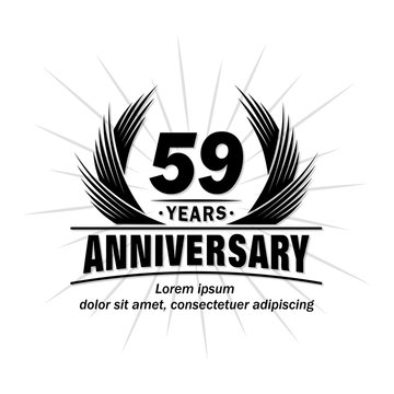 59 years design template. Anniversary vector and illustration template.