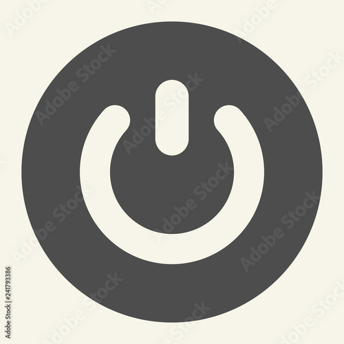 Power button solid icon  Switch vector illustration isolated on
