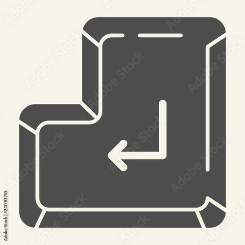 Enter key solid icon  Enter button vector illustration