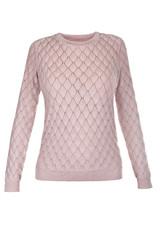 Round neck knit pullover