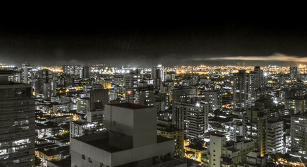 Top view of Santos / SP/ Brazil at night