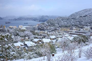 雪の日の長崎