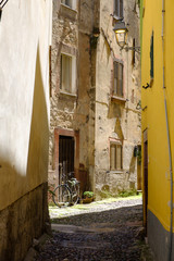 Village of Bosa, Sardinia, Italy.