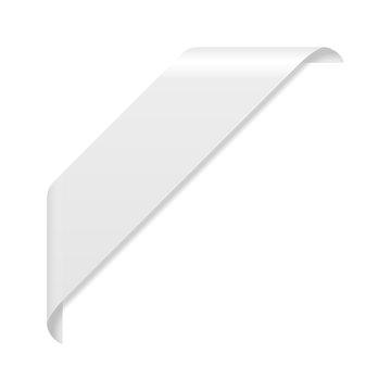 White corner ribbon