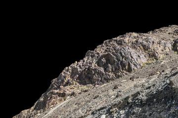 rock isolated on black background