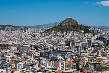Mount Lycabettus, taken from the Acropolis, Athens, Greece