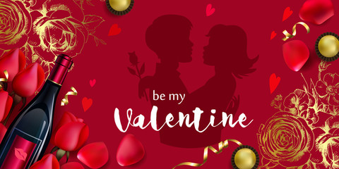 Holiday background to Valentines day