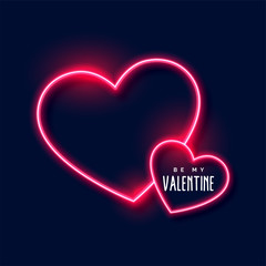 neon hearts background for valentines day