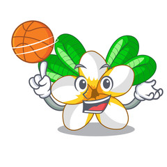 With basketball flower frangipain in a cartoon basket