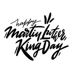 Martin Luther King Jr Day hand drawn vector lettering. Holiday poster.