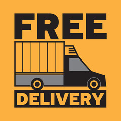 Delivery truck with text free delivery