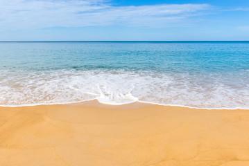 tropical beach in summer and sand sea sky