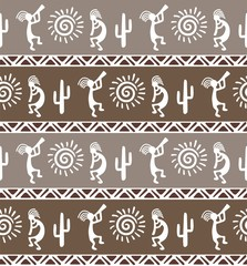 American pattern. Ethnic seamless ornament.