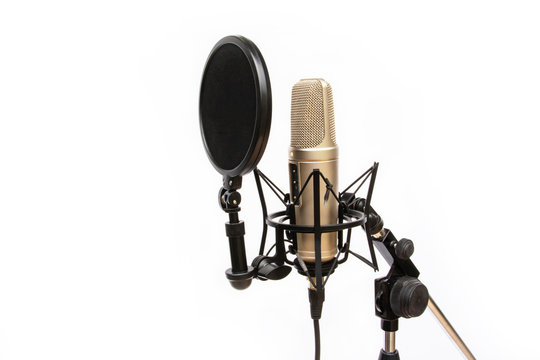 recording mic isolated On a white background