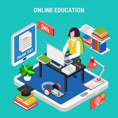 Education Isometric Concept