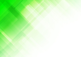 Abstract square shapes green background Wall mural