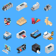 Printing House Isometric Set