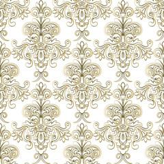 Seamless Damask Wallpaper. Seamless oriental pattern. Classic vintage background