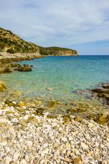 Greek sea coastline on Peloponnese