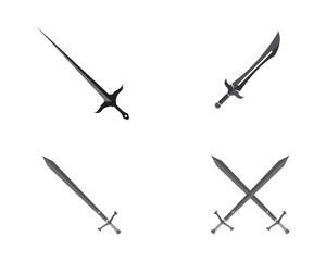 Sword vector logo illustrations