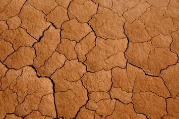 Tierra agrietada por falta de humedad en Bardenas