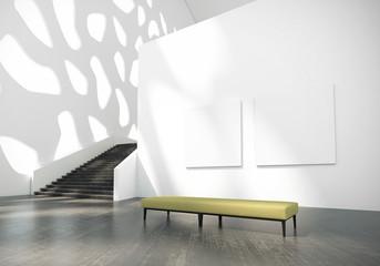 Modern art gallery building