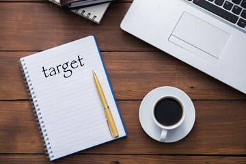 target text on notepad