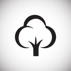 Tree icon on white background for graphic and web design, Modern simple vector sign. Internet concept. Trendy symbol for website design web button or mobile app