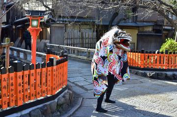 Foto op Plexiglas Asia land 京都 祇園の獅子舞