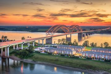 Fototapete - Hernando de Soto Bridge.