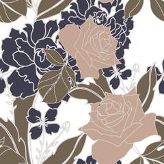 Beautiful seamless floral pattern background.