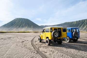 Jeep service for sight seeing around Bromo mountain tour
