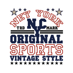 New York typography, t-shirt  brooklyn, vintage graphic