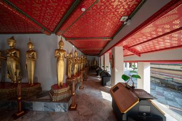 HDR image of Buddha statues at Wat Po Temple in Bangkok, Thailand