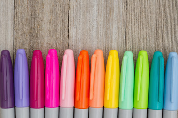 Colorful markers background