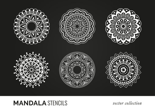 Mandala Stencils. Decorative Elements