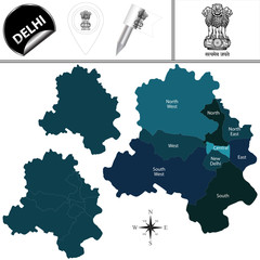 Map of Delhi, India