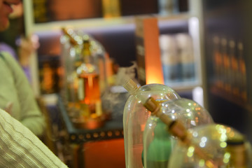 Glass flasks for vapers. Vaping whiskey. Evaporator of whiskey for the use of the drink in the form of smoke.