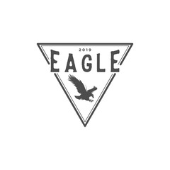 Eagle vintage logo design inspiration with triangle shape