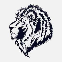 lion head, by the royal cat, the king of beasts