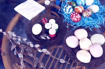 easter eggs with sweets