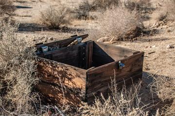 Wood Box in Desert