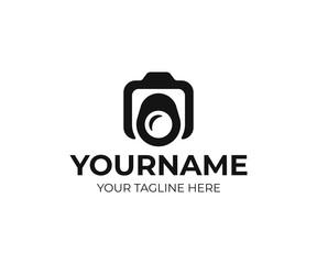 Digital camera logo design. Photography vector design. Photo studio logotype