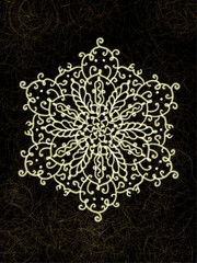 dark background and traditional pattern gold drawing line card textures