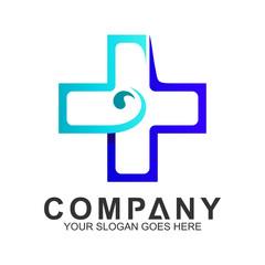 blue medical cross logo