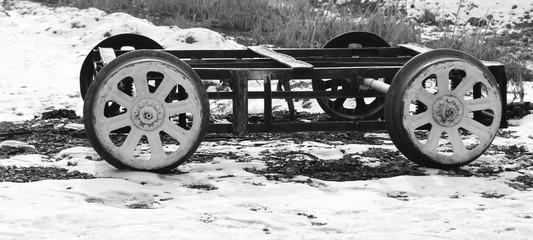 old railway trolley