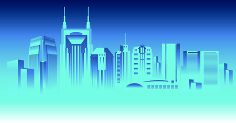 Wall Mural - Nashville Tennesee skyline
