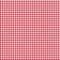 Houndstooth Seamless Pattern - Classic red and white houndstooth texture