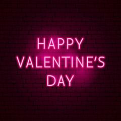 Happy Valentine's Day Neon Sign