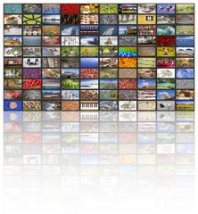 Big multimedia video and image walls
